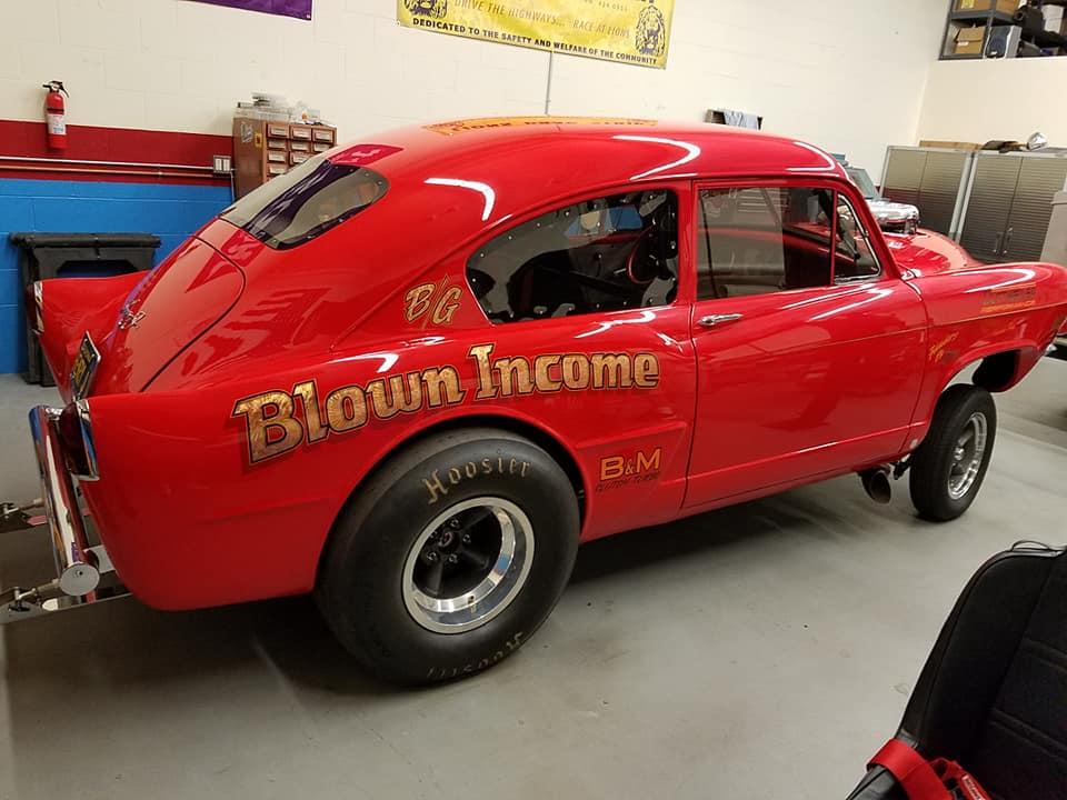 Rear Side Profile Blown Income